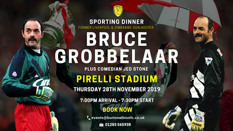 NOVEMBER 28: SPORTING DINNER WITH BRUCE GROBBELAAR