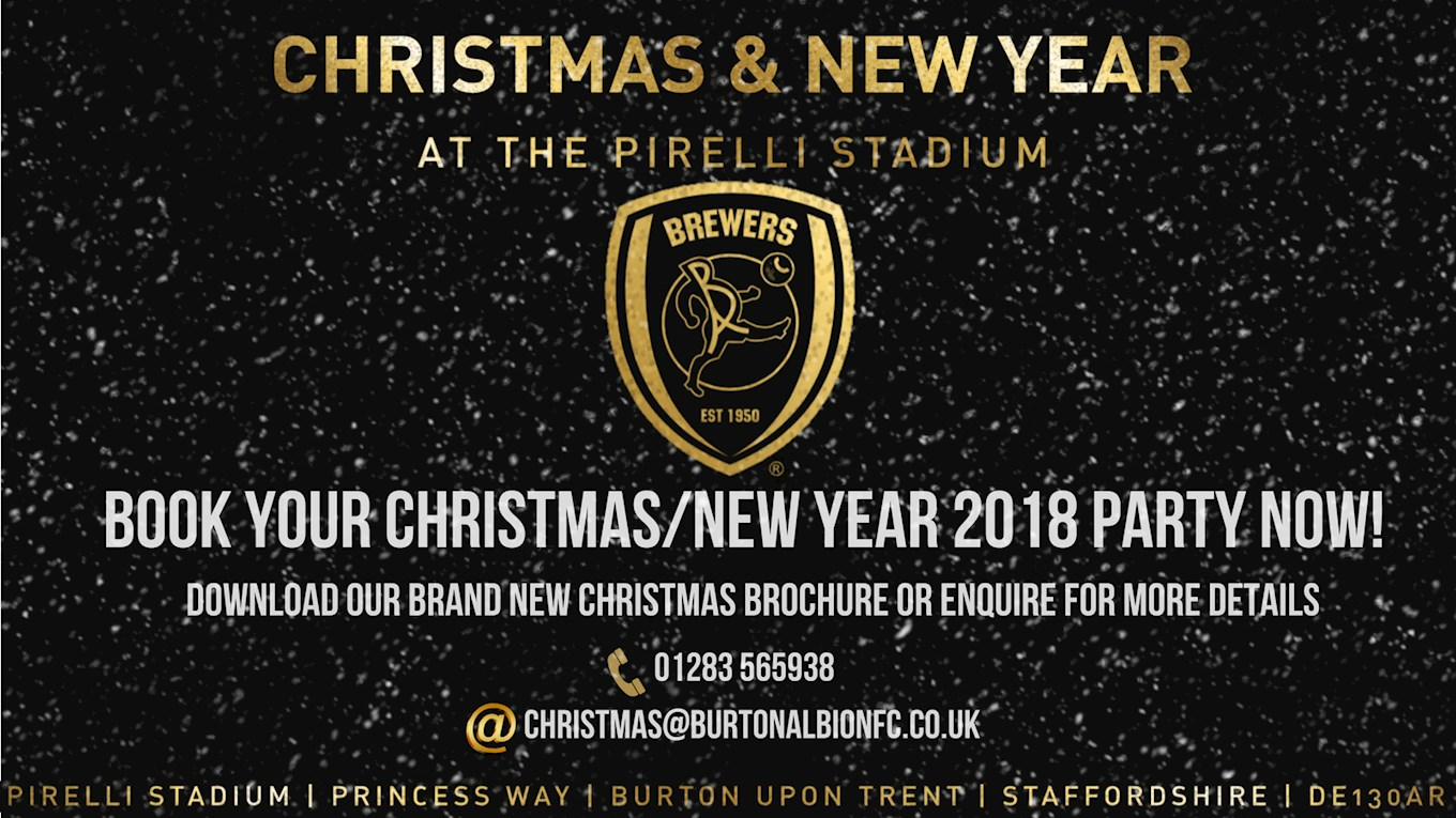CHRISTMAS & NEW YEAR 2018 AT THE PIRELLI STADIUM - BOOK NOW - News ...