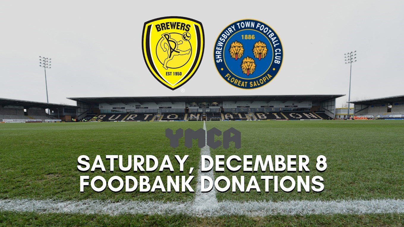 Foodbank Donations Being Taken At Shrewsbury Town Game This
