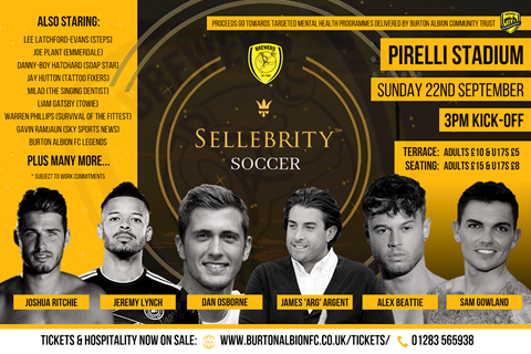 SEPTEMBER 22: SELLEBRITY SOCCER CHARITY MATCH